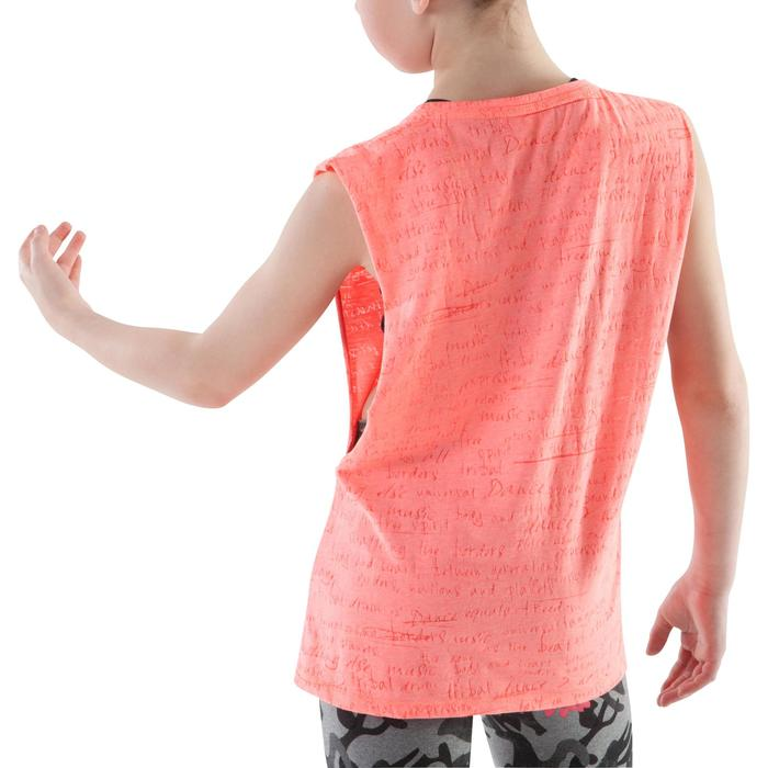 Camiseta abertura lateral naranja niña