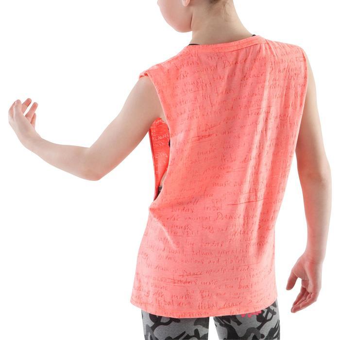 T shirt ouverture côté orange fille - 1199983