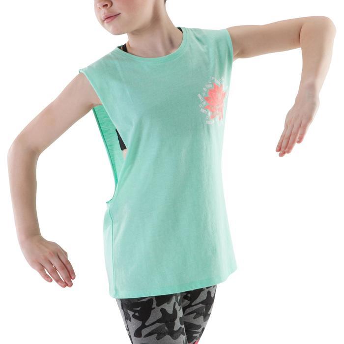 T-shirt met opening opzij voor meisjes mintgroen