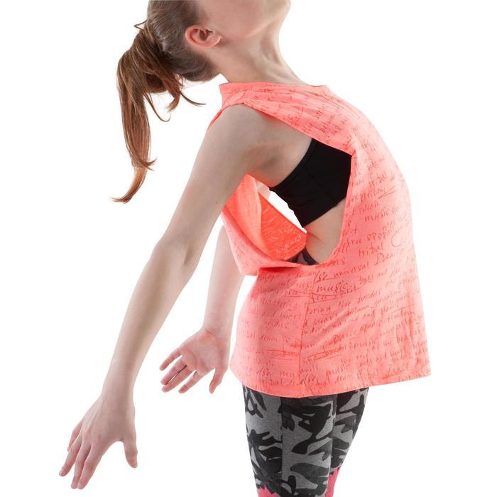 T shirt ouverture côté orange fille - 1200019