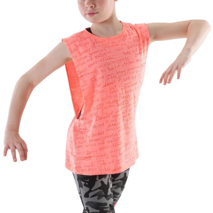 T shirt ouverture côté orange fille - 1200027