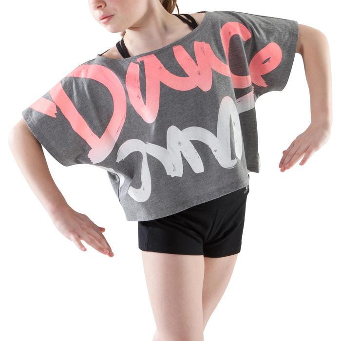 T-shirt danse court et ample manches courtes fille. - 1200032