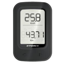 Cuentakilómetros ciclismo 500 negro - sin cable