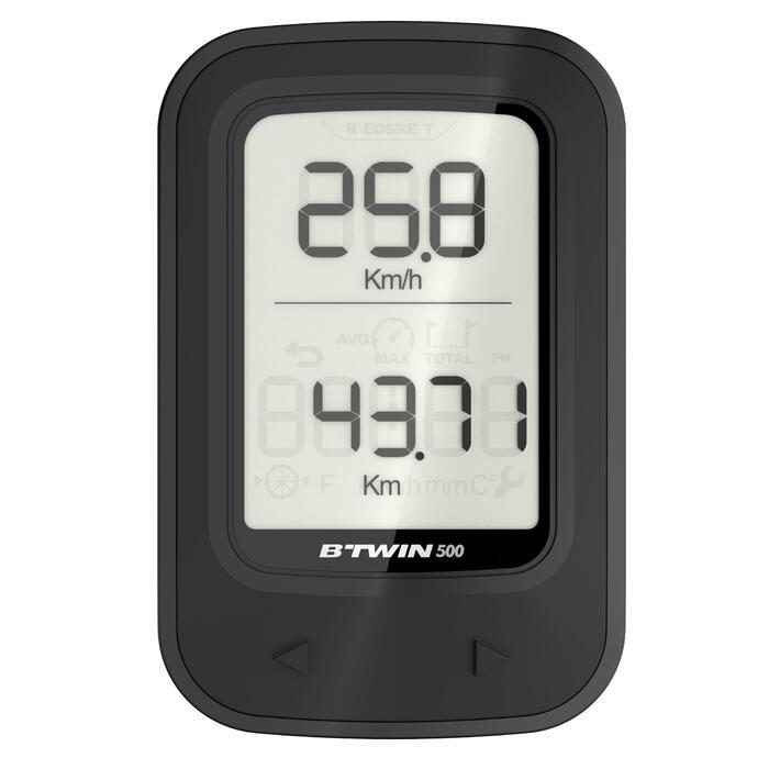 COMPTEUR VÉLO B'TWIN 500 NOIR - SANS FIL - 1200080