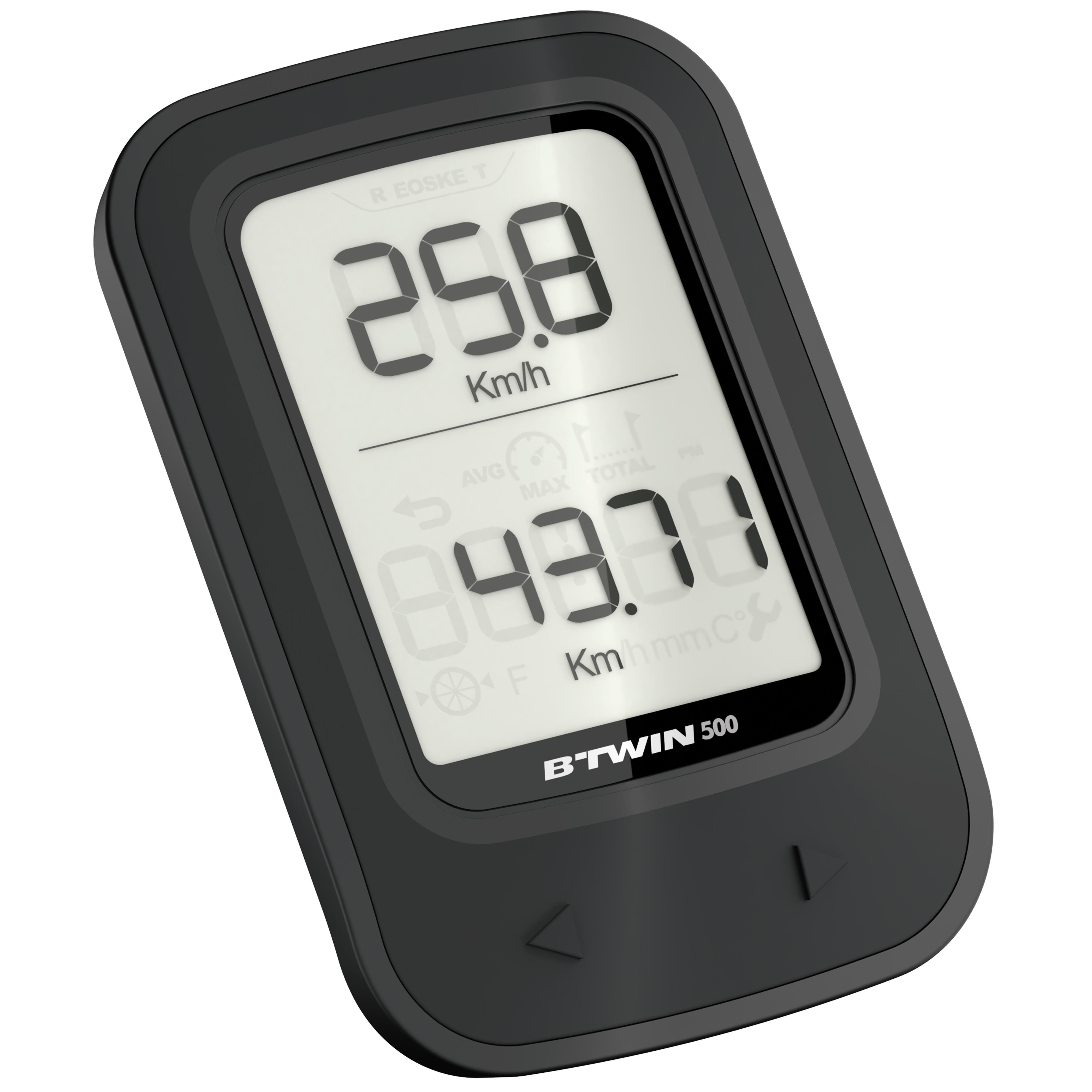 Cyclomètre vélo 500 noir - sans fil
