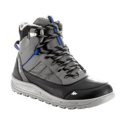 SH120男款冬季保暖中筒健行鞋-灰色