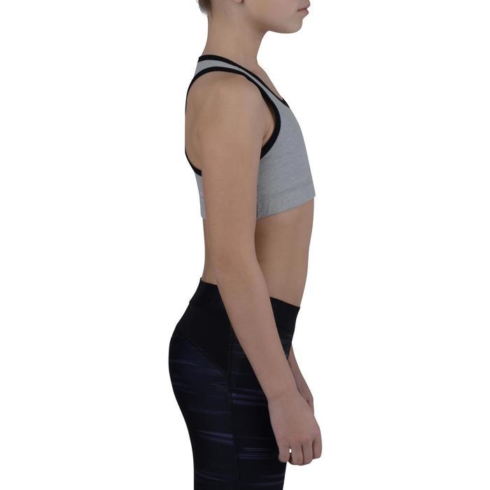 Brassière 500 Gym Fille gris noir - 1200213