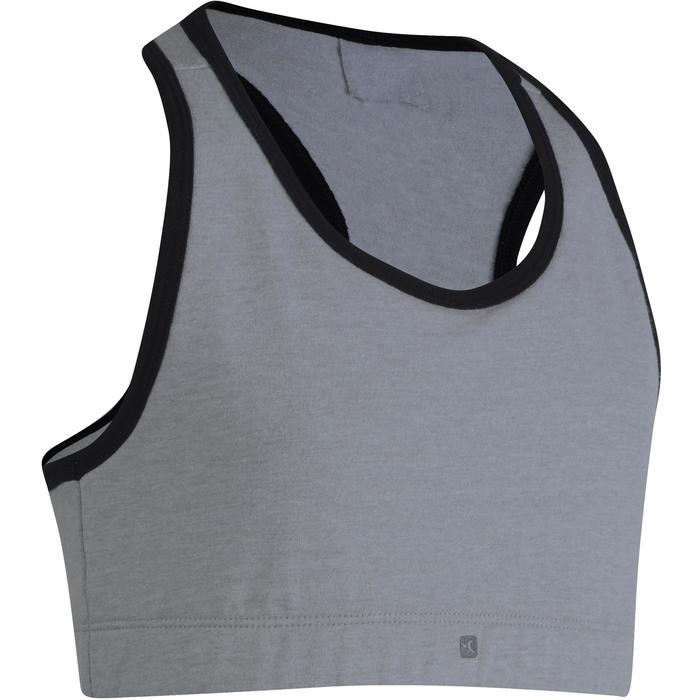 Brassière 500 Gym Fille gris noir - 1200224