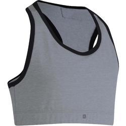 Gymtopje 500 voor meisjes grijs zwart