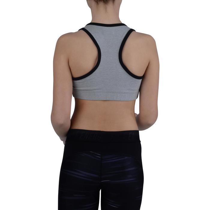 Brassière 500 Gym Fille gris noir - 1200230