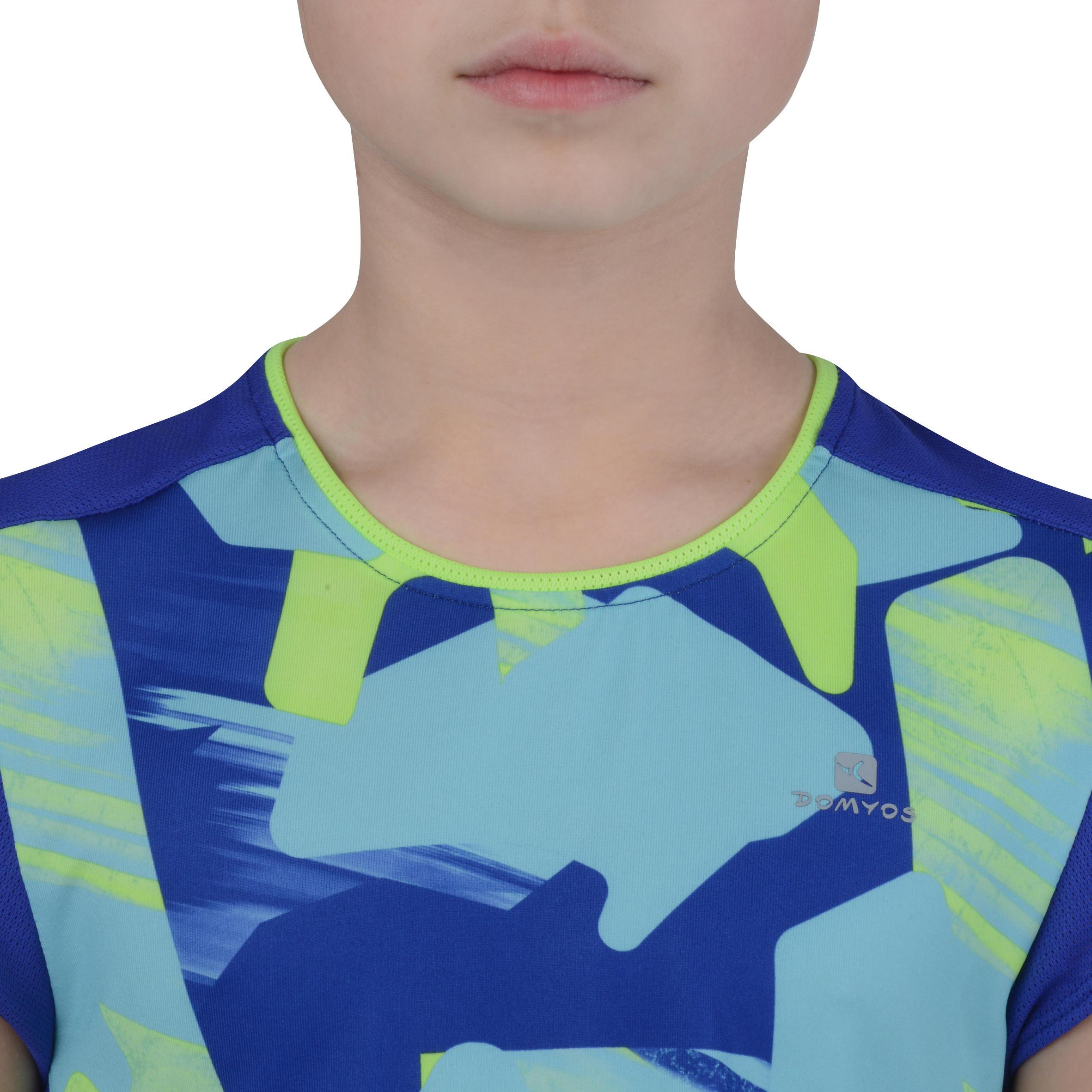 Energy Girls' Short-Sleeved Gym T-Shirt - Blue