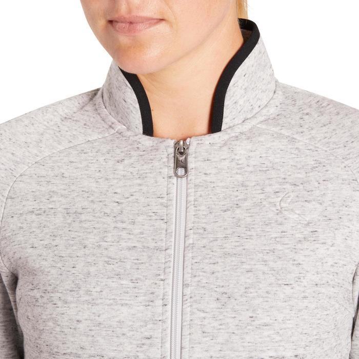 Veste 900 Gym & Pilates femme sans capuche gris effet neps - 1200340
