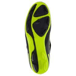 Botas de rugby júnior Skill R100 FG tacos fijos amarillo negro