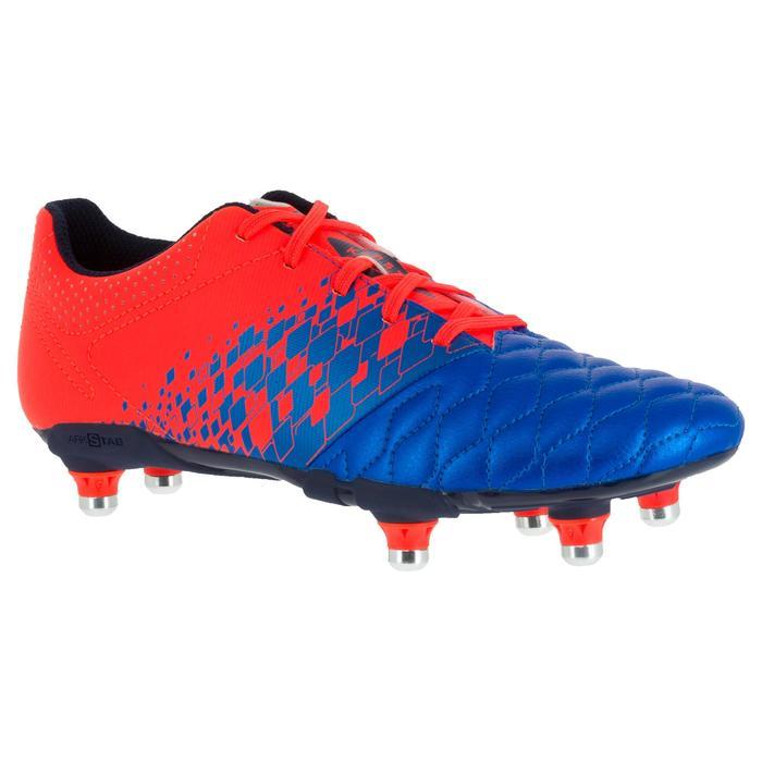 Crampons de rugby enfant terrains gras Agility 900 SG bleue orange - 1200432