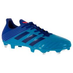 Hybride rugbyschoenen voor volwassenen Adidas Malice SG blauw