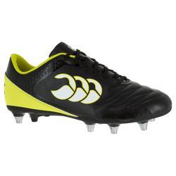 Rugbyschoenen volwassenen drassig terrein 8 noppen Stampede SG zwart/geel