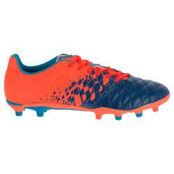Rugbyschoenen voor volwassenen Agility 500 FG voor droog terrein oranje blauw