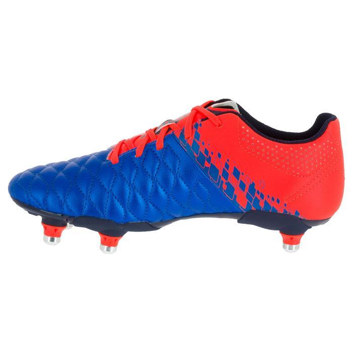 Crampons de rugby enfant terrains gras Agility 900 SG bleue orange - 1200503