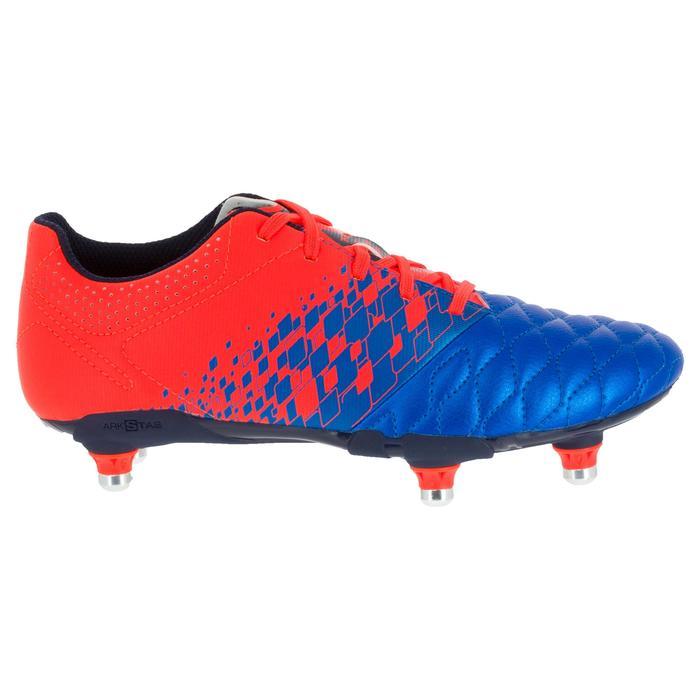 Crampons de rugby enfant terrains gras Agility 900 SG bleue orange - 1200514