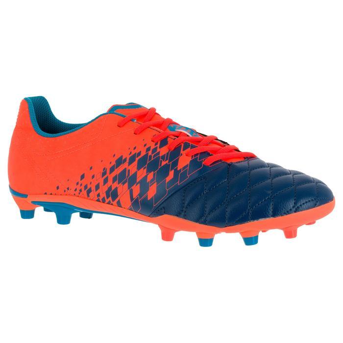 Chaussure de rugby adulte terrains secs Agility 500 FG orange bleue - 1200523
