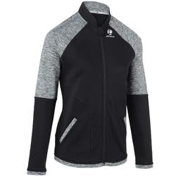 Tennisjacke Trainingsjacke warm 500 Tennis Damen schwarz