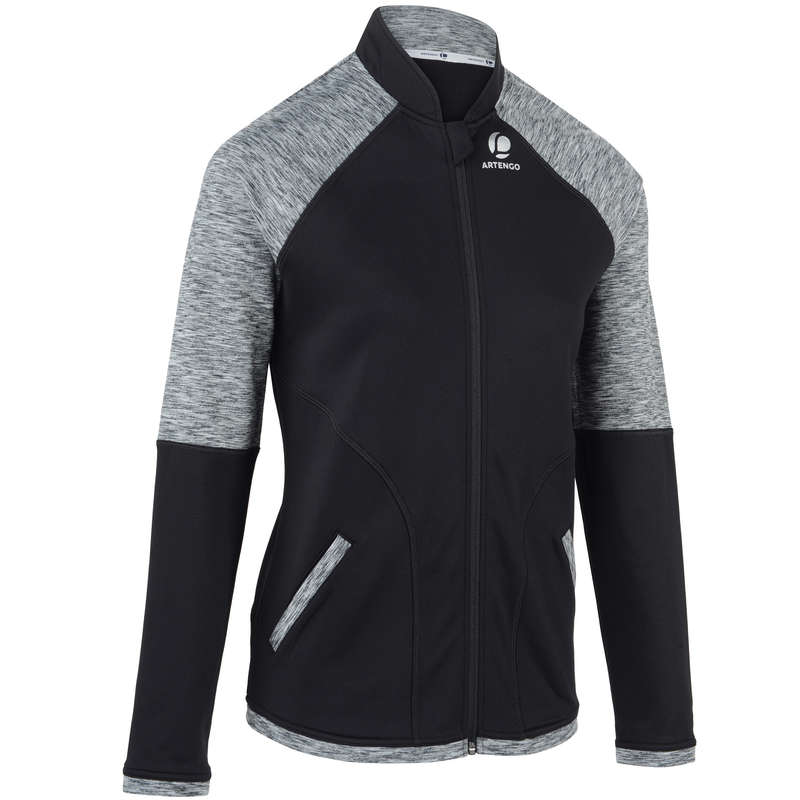 WOMAN COOL APPAREL Tennis - Women's Warm 500 Jacket Black ARTENGO - Tennis Clothes