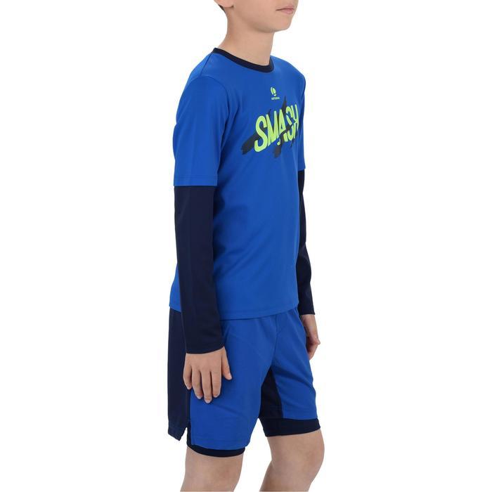 Kindershirt Essentiel 500 voor tennnis, badminton marineblauw
