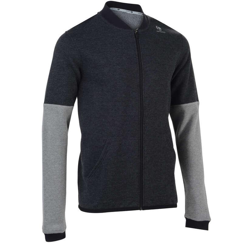 MEN COOL APPAREL Tennis - Soft 500 Jacket - Dark Grey ARTENGO - Tennis Clothes