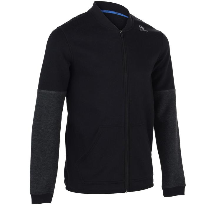 Tennis-Trainingsjacke Soft 500 Herren schwarz