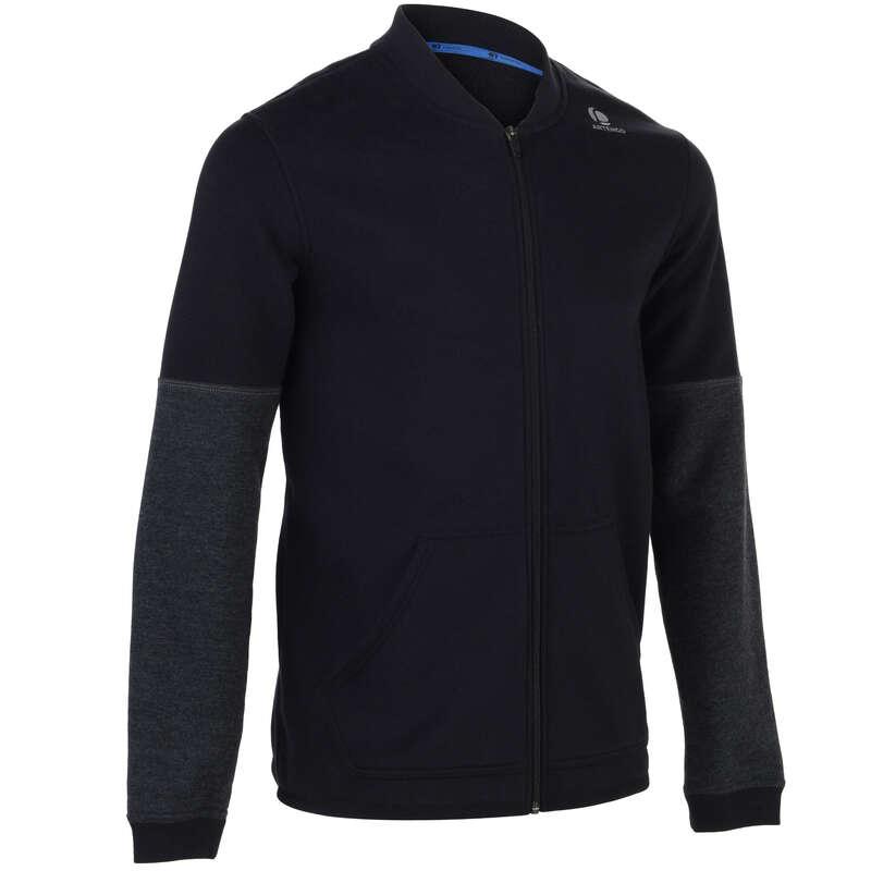 MEN COOL APPAREL Tennis - Soft 500 Jacket - Black ARTENGO - Tennis Clothes