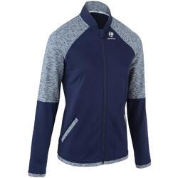 女款保暖網球外套500-軍藍色