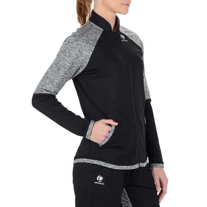 Women's Warm 500 Tennis Jacket - Black
