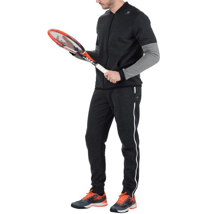 CHAQUETA sudadera tenis SOFT 500 H GRIS OSC