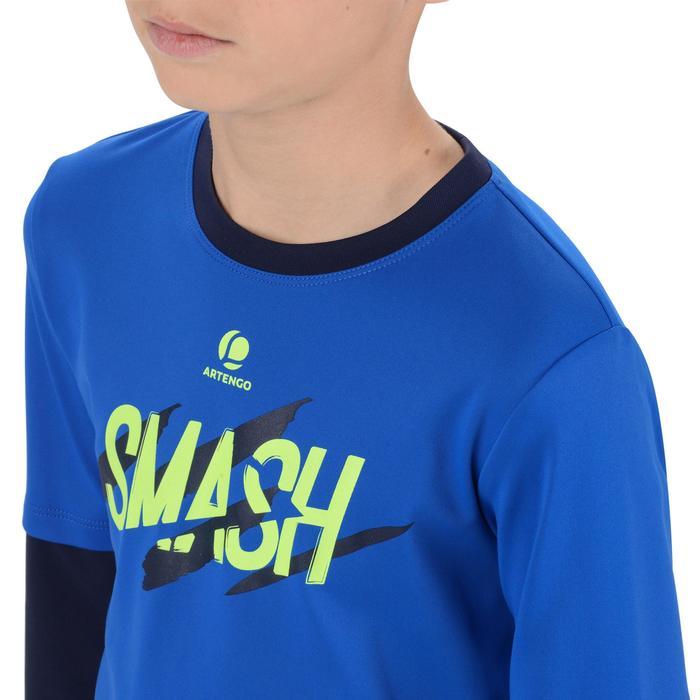 Langarmshirt Essentiel 500 Tennis Badminton Kinder marineblau
