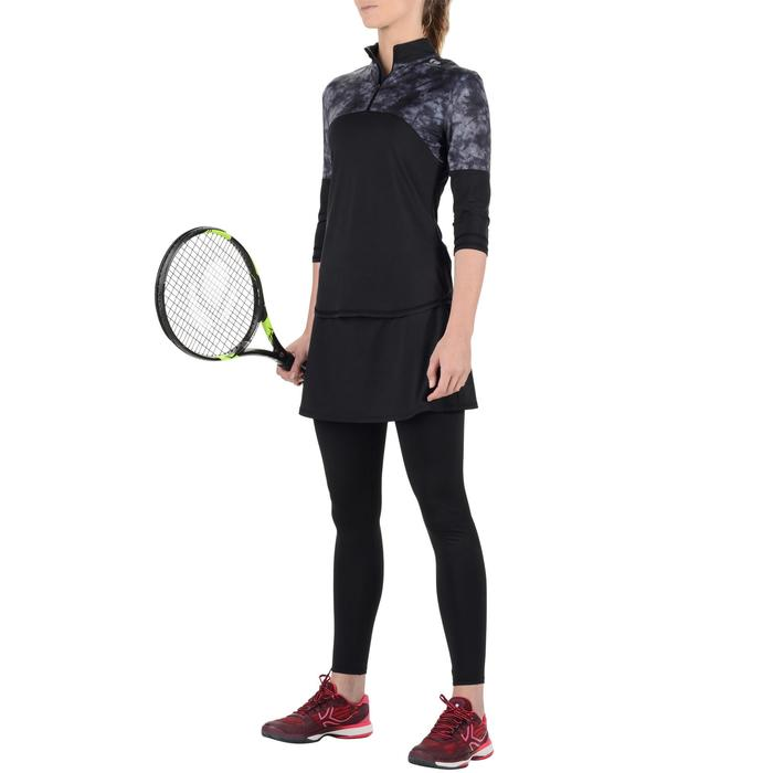 Thermoshirt 3/4 dames 900 Chalk zwart tennis