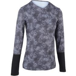 Tennis T-shirt voor dames Essentiel zwart met opdruk