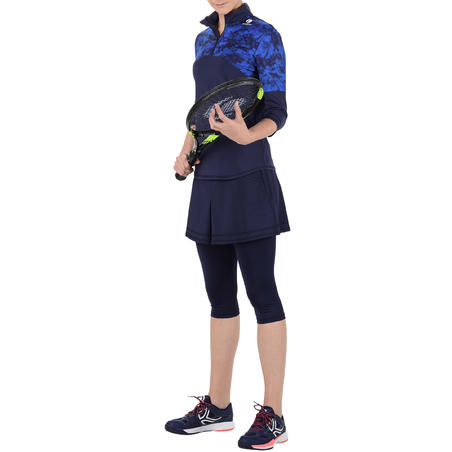 Thermic 900 3/4-Sleeve Tennis Top - Chalk/Navy