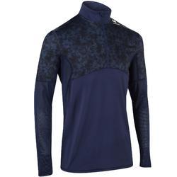 Thermisch shirt 900 voor heren marineblauw zeshoek