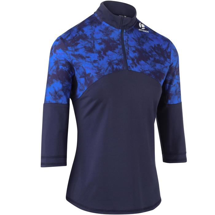 3/4-Ärmel-Shirt Thermic 900 Tennis Damen marineblau/saphirblau