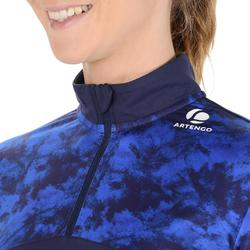 Thermoshirt 3/4 dames 900 Chalk marineblauw tennis