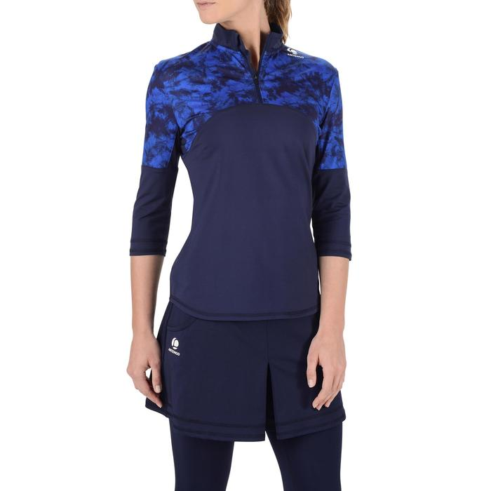 3/4-Ärmel-Top Thermic Damen kalkfarben/navy blau