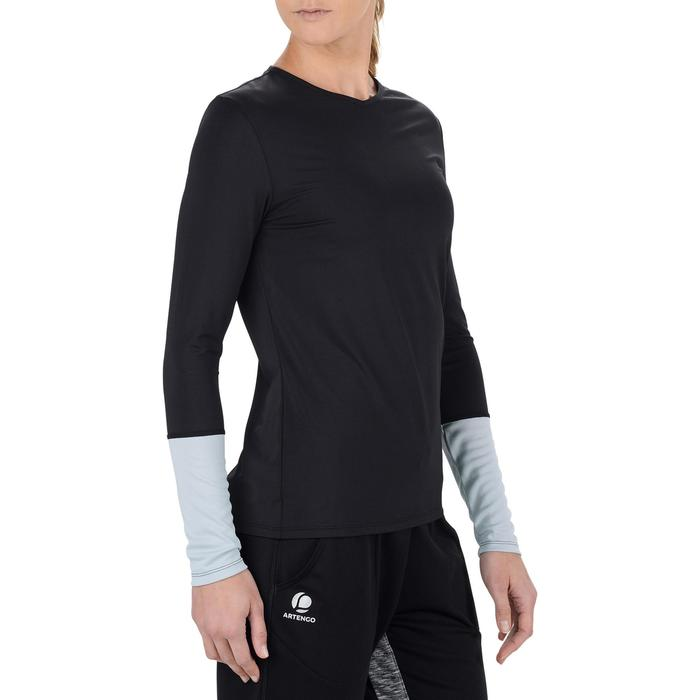 Essential Women's Tennis T-Shirt - Black/Grey