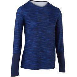 Essential Women's Badminton Tennis T-Shirt - Mottled Blue