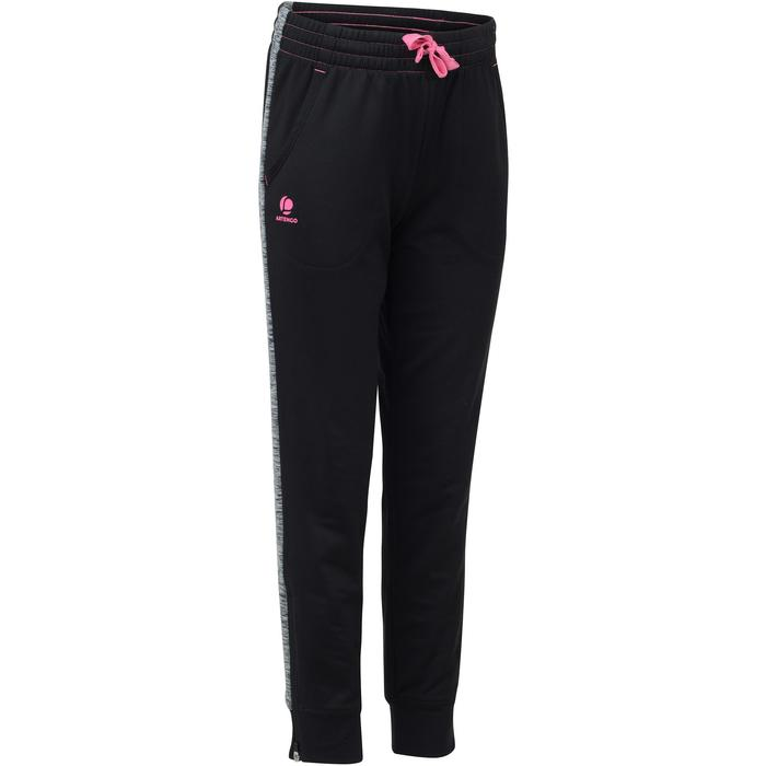 PANTALON DRY JUNIOR 500 NOIR ROSE TENNIS