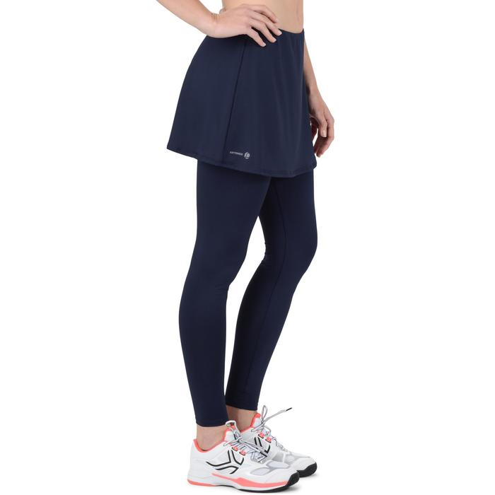 Tennisrock 500 warm Damen marineblau