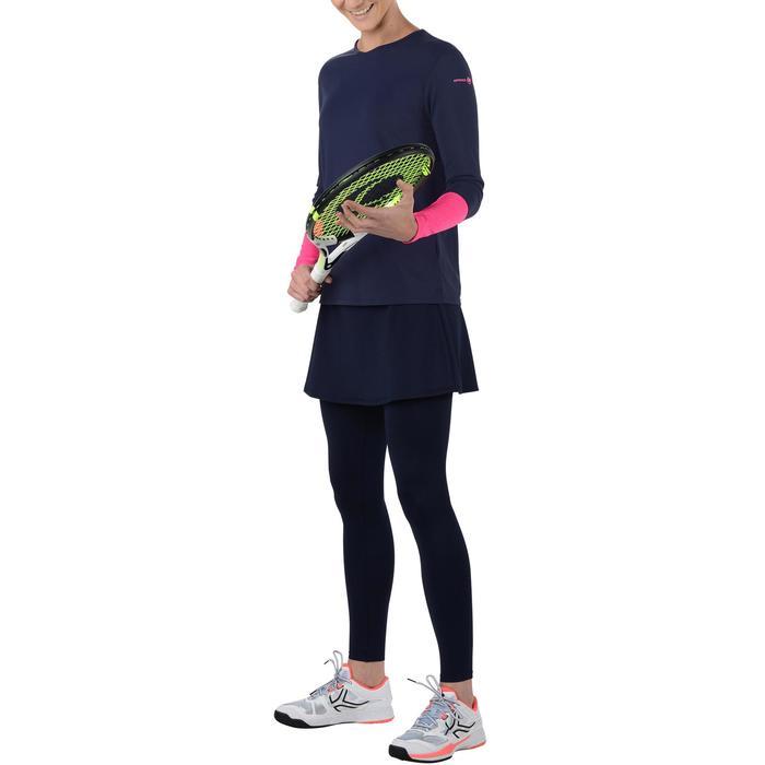 Tennisrock 500 warm Damen marineblau