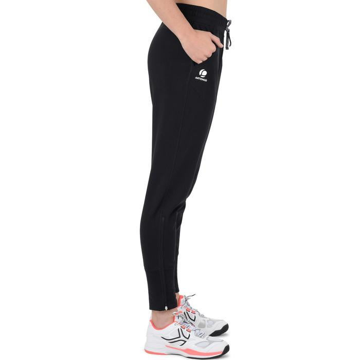 Tennisbroek dames Warm 500 zwart