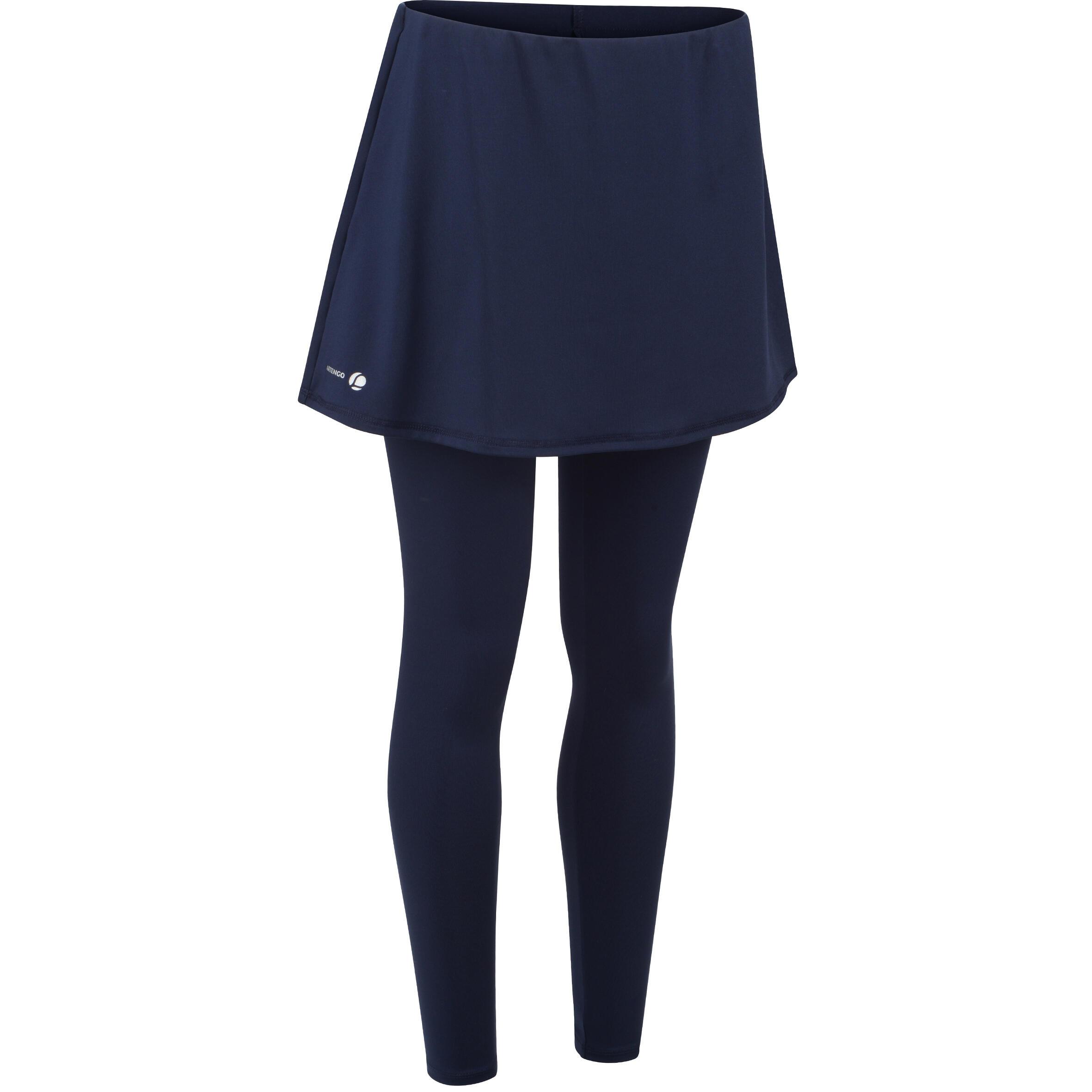 Tennisrock 500 warm Damen marineblau | Sportbekleidung > Sportröcke > Tennisröcke | Artengo