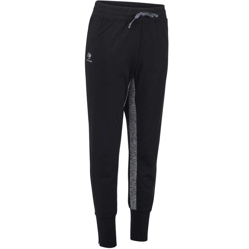 WOMAN COOL APPAREL Tennis - Women's Warm 500 Bottoms Black ARTENGO - Tennis Clothes