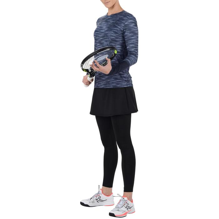 Tennisrock 500 warm Damen schwarz